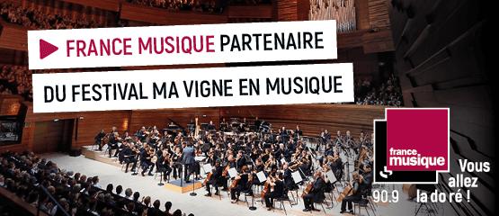 France Musique partenaire du festival de musique classique Ma vigne en Musique - Narbonne 2020